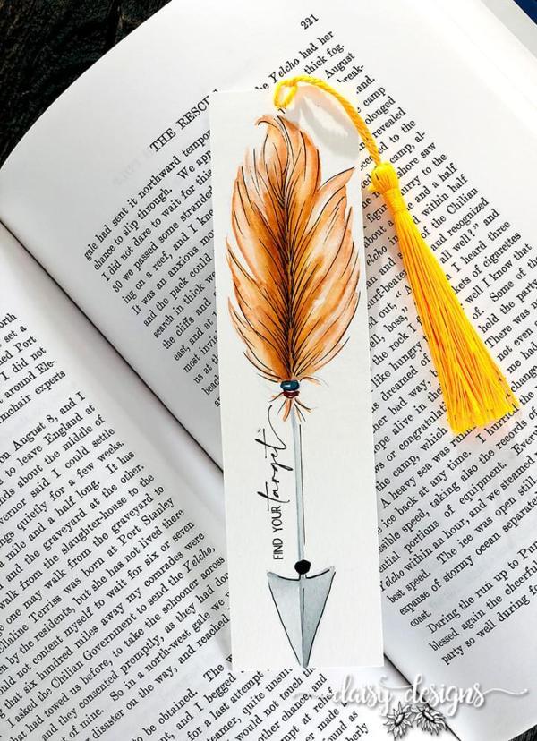 Find Your Target - orange bookmark
