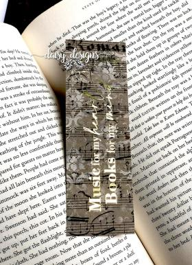 Music and Books bookmark