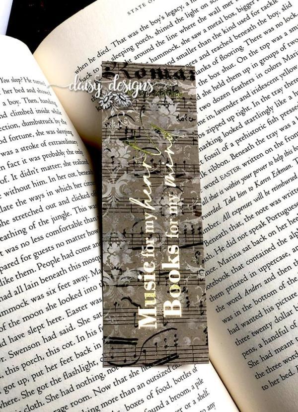 Music and Books bookmark