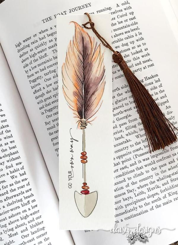 Own Way Bookmark - Peach
