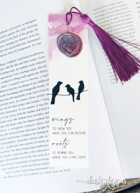 Wings bookmark Purple