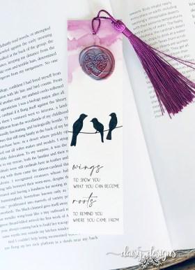 Wings bookmark Purple