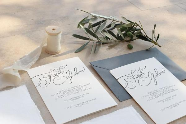 DIY Printable - Modern Two invites with envelope
