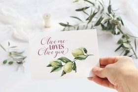 Olive me loves olive you valentines card