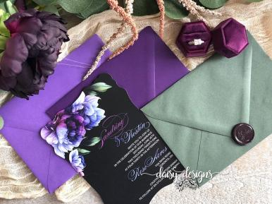 Victorian Eminence invite with envelope options