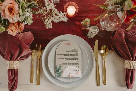 Cafe Palmier table setting