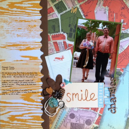 Scrapbook LO: Smile: Tomorrow It All Changes