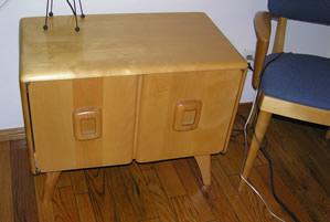my heywood wakefield record cabinet