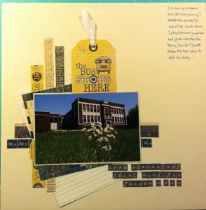Scrapbook LO of Cook Elementary School, Flint, Michigan