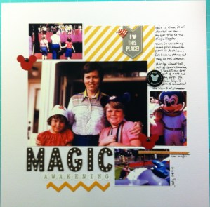 Scrapbook LO of a trip to Disneyland in July 1977