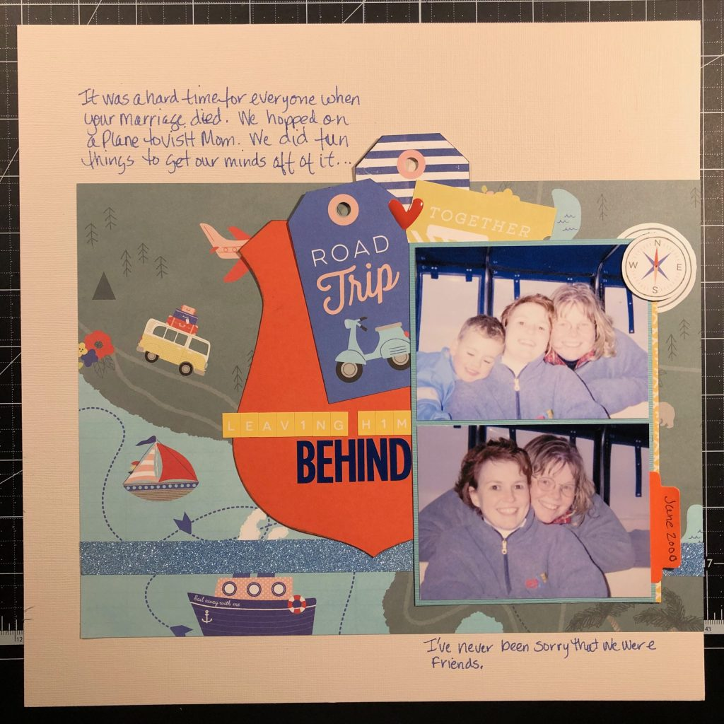 Scrapbook layout of my sister and I in 2000