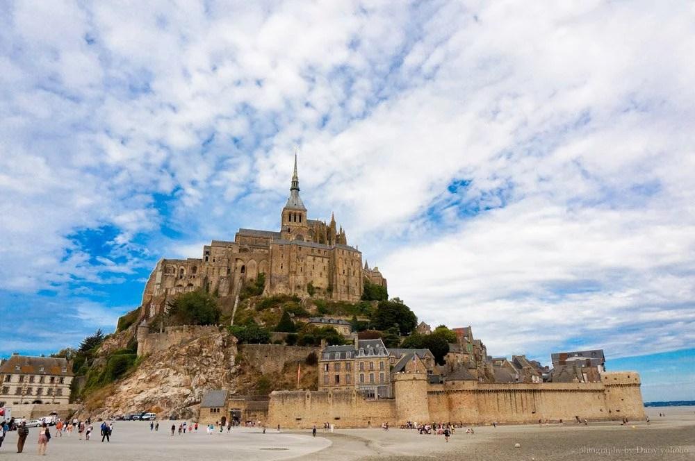 巴黎, 法國景點, 聖米歇爾山, SaintMichel, Mont-Saint-Michel, 西法景點, 世界文化遺產, 黛西優齁, 黛西環歐, 環歐之旅, 歐洲自助, 法國自助