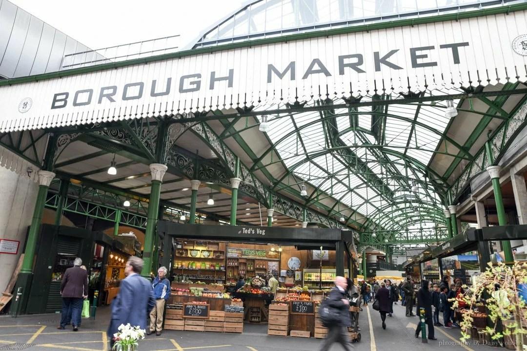 倫敦市集, boroughm-market, 波羅市場, 英國市集, 倫敦鐵橋, 生蠔, 捲餅, 排隊, 好吃, 倫敦美食, 倫敦景點