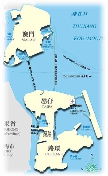 macao, 澳門地圖, 澳門自助旅行, 澳門自由行, 澳門本島, 氹仔, 金光大道