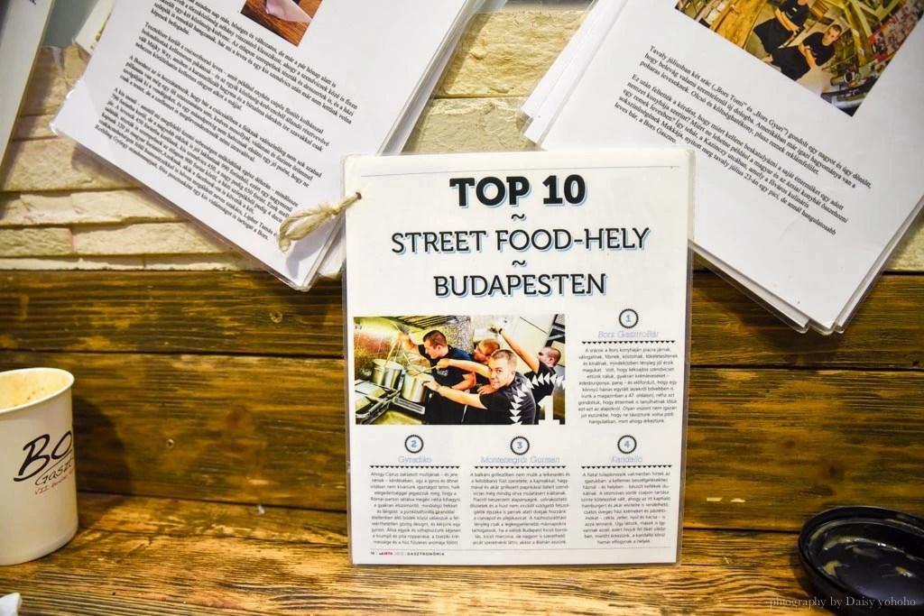 布達佩斯美食, 匈牙利, Bors-Gastro-Bar, 布達佩斯排隊美食, 布達佩斯小吃, 廢區酒吧, 長棍麵包, 三明治, 熱湯, 甜點湯