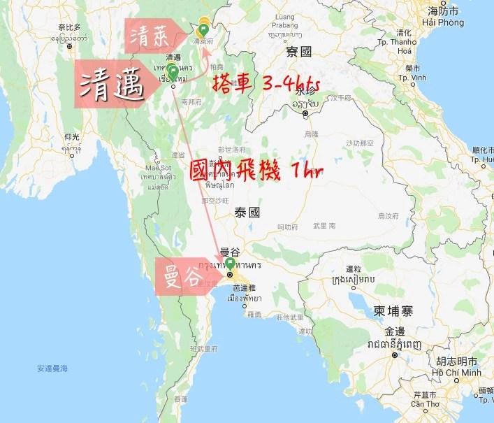 chiangmai-map, 清邁地圖, 清邁地理位置, 泰北地理位置, 清邁自助, 清邁自由行