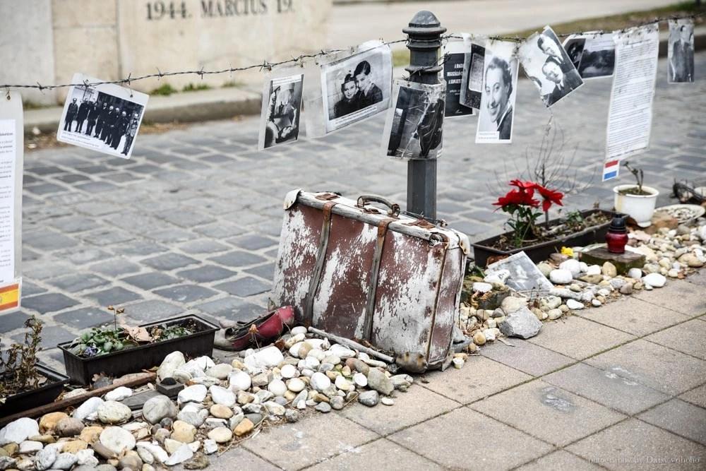 二戰紀念碑, 納粹, 匈牙利, 猶太人大屠殺, 布達佩斯景點, 自由廣場, 多瑙河左岸