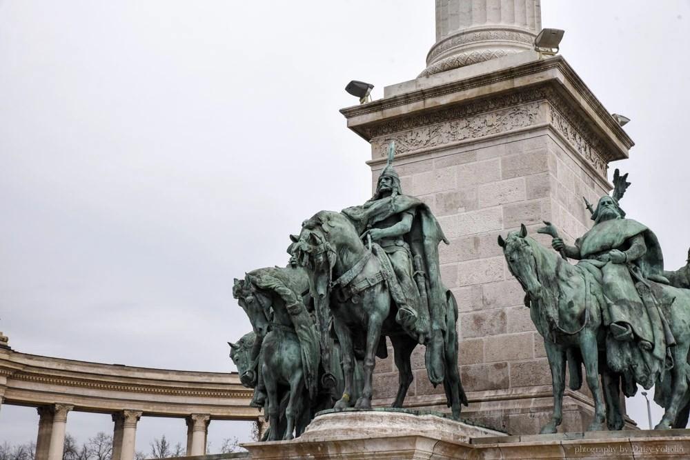 英雄廣場, 布達佩斯自由行, 布達佩斯自助, 布達佩斯景點, 匈牙利, 千年紀念碑
