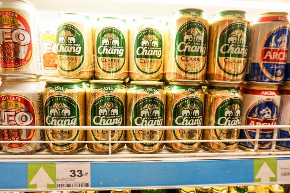泰國啤酒, 象牌啤酒, 清邁美食, 泰國美食, 泰國小七, 泰國超商