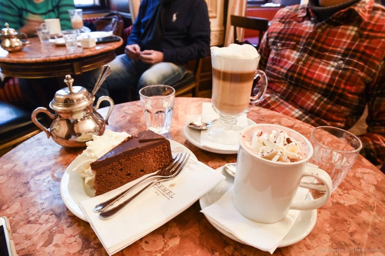 Demel Cafe, 德梅爾蛋糕店, 維也納咖啡館, 維也納美食, 維也納下午茶, 熱巧克力, 沙赫蛋糕, 沙河蛋糕