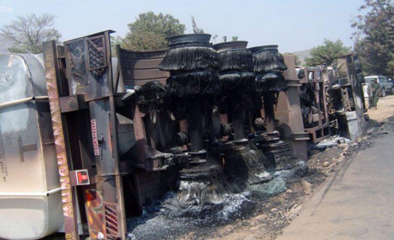40 personnes meurent après l'incendie d'un véhicule citerne vers Kisantu