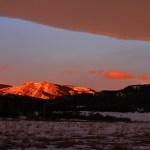 Saddle Mountain, sunrise, chinook