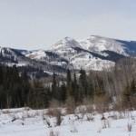 winter, saddle mountain, cowboy trail