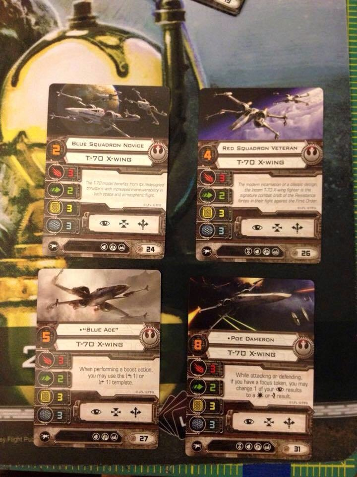 New X-Wing Starter Set X-Wings