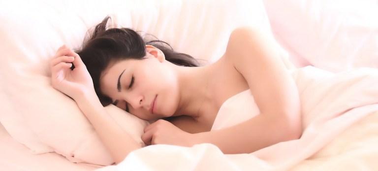 Stages of sleep - sleeping girl