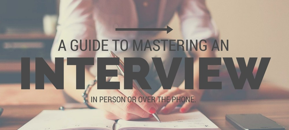 Mastering A Phone Interview