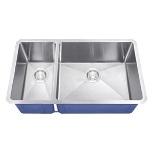 Dakota Signature Series 30/70 Micro Radius Undermount 16 Gauge Stainless Steel Sink