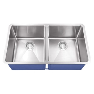 Dakota Signature Series 50/50 Micro Radius Undermount 16 Gauge Stainless Steel Sink