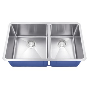 Dakota Signature Series 60/40 Micro Radius Undermount 16 Gauge Stainless Steel Sink