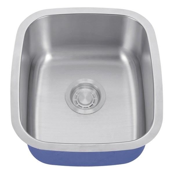 "Dakota Signature Series 19"" x 15"" Standard Radius Undermount 16 Gauge Stainless Steel Sink"