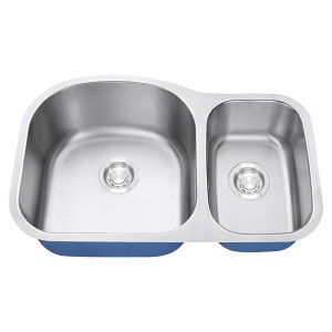 Dakota Signature Series 70/30 Standard Radius Undermount 16 Gauge Stainless Steel Sink