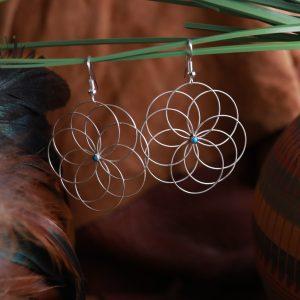 Sleeping Beauty Flower Earrings