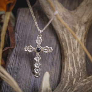 Black Onyx Cross Necklace