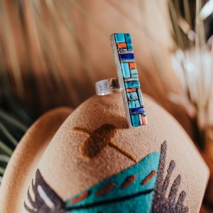 Zuni Inlay Ring Sz. 10