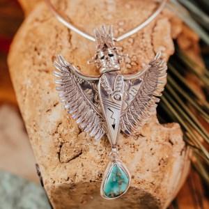 Hopi Kachina Eagle Necklace