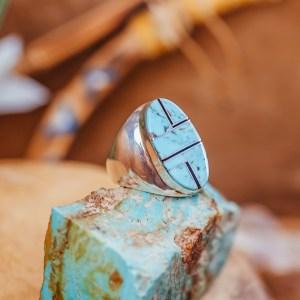 Kingman Turquoise Ring Sz. 11