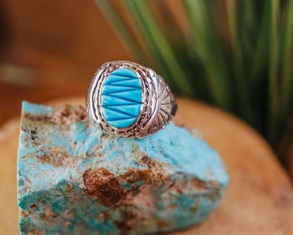 Sleeping Beauty Turquoise Ring Sz. 12