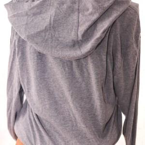 Lightweight Long-Sleeve Grey Hooded Shirt