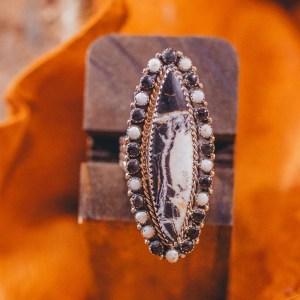 White Buffalo Ring Sz. 10