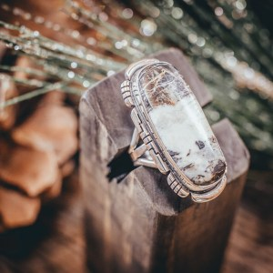 White Buffalo Ring Sz. 9