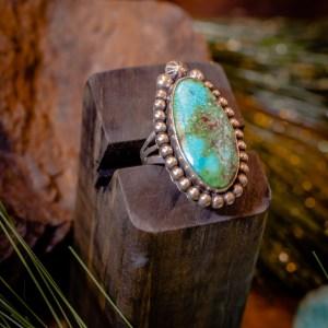 Sierra Nevada Turquoise Ring Sz. 9.5