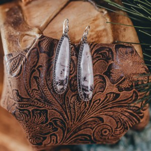 White Buffalo Earrings