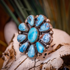 Golden Hills Turquoise Ring Sz. 9