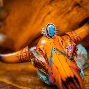 Kingman Turquoise Ring Sz. 6.5