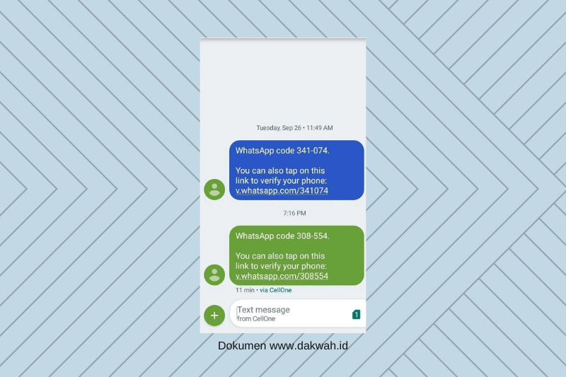 contoh OTP Whatsapp dakwah.id