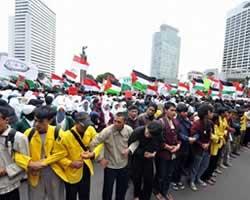 Mahasiswa Sejabodetabek aksi mendukung Palestina